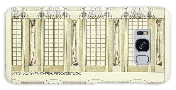 Decorative Galaxy Case - Reception And Music Room by Charles Rennie Mackintosh