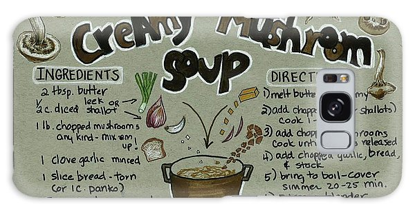 Recipe Mushroom Soup Galaxy Case