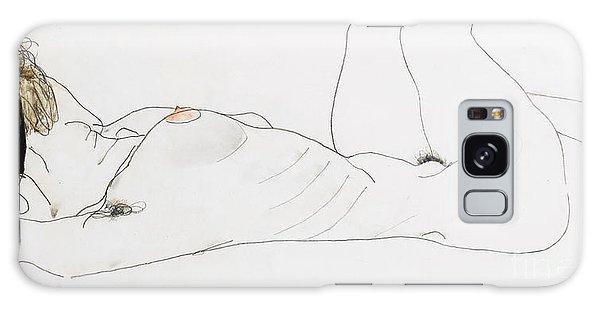 Beautiful Girl Galaxy Case - Reclining Female Nude by Egon Schiele