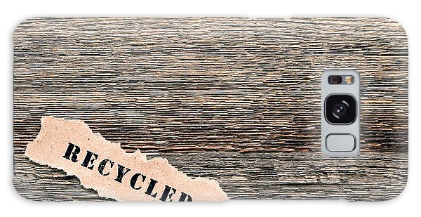 Recycle Galaxy Case - Recycled Wood by Olivier Le Queinec