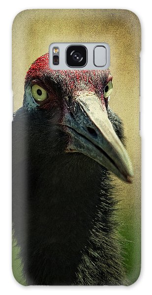 Red - Crowned Crane 1 Galaxy Case