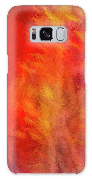 Red Abstract Galaxy Case
