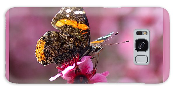 Red Admiral Butterfly Galaxy Case