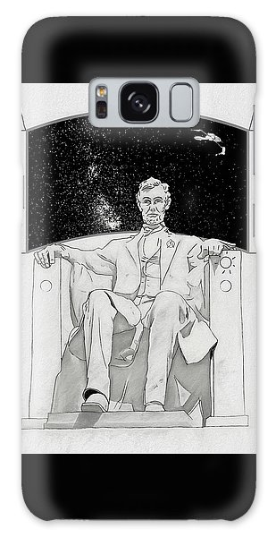 Galaxy Case featuring the drawing Red Alert by John Haldane