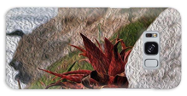 Red Aloe Vera By The Sea Galaxy Case