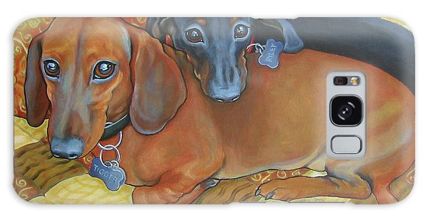 Red And Black Dachshunds - Best Buds Galaxy Case
