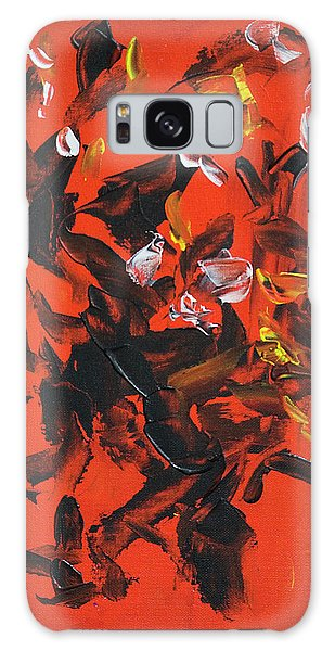 Red And Black Galaxy Case by Yulia Kazansky
