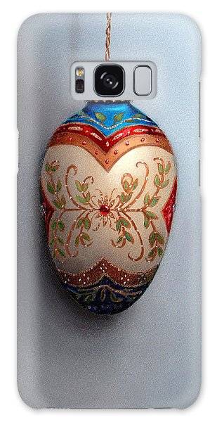 Red And Blue Filigree Egg Ornament Galaxy Case