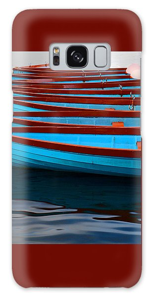 Red And Blue Paddle Boats Galaxy Case