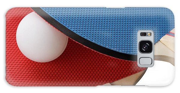 Red And Blue Ping Pong Paddles - Closeup Galaxy Case
