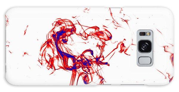 Red And Blue Twirrl Galaxy Case
