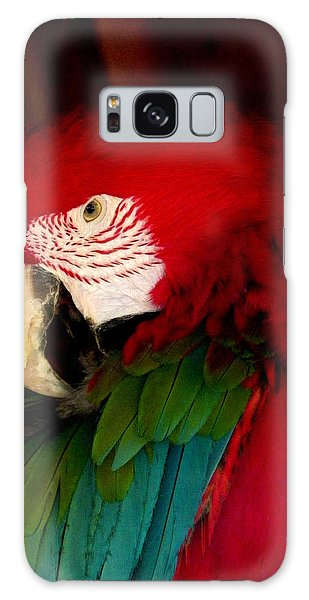 Red And Green Wing Macaw Galaxy Case