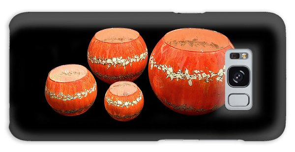 Red And White Bowls Galaxy Case