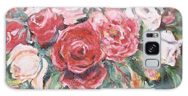 Red And White Roses Galaxy Case