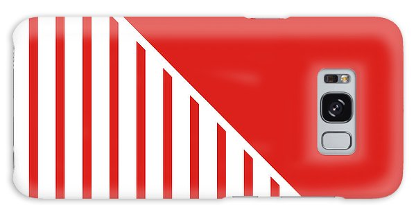 Americana Galaxy Case - Red And White Triangles by Linda Woods