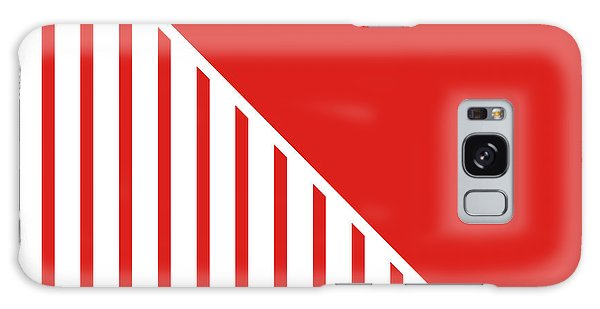 Patriotic Galaxy Case - Red And White Triangles by Linda Woods