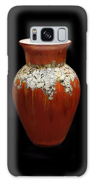 Red And White Vase Galaxy Case