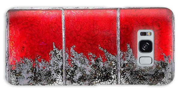 Red And White Window # 1 Galaxy Case