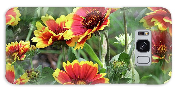 Red And Yellow Daisy Dreams Galaxy Case