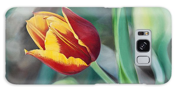 Red And Yellow Tulip Galaxy Case by Joshua Martin