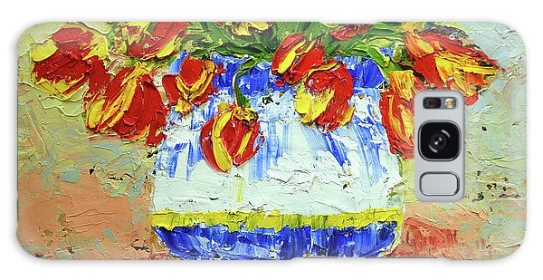 Red And Yellow Tulips Galaxy Case by Lynda Cookson
