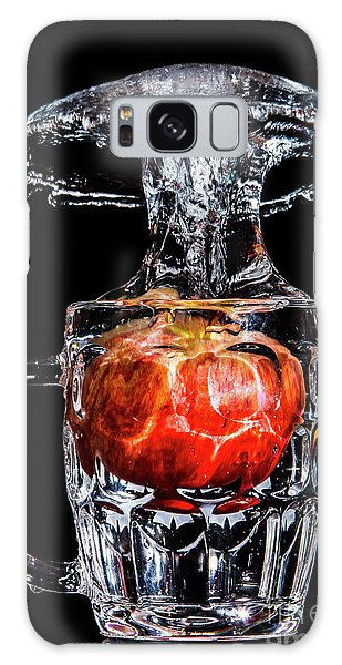 Galaxy Case featuring the photograph Red Apple Splash by Ray Shiu