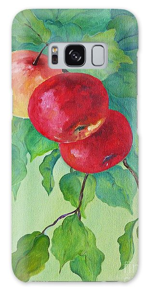 Red Apples Galaxy Case by AmaS Art