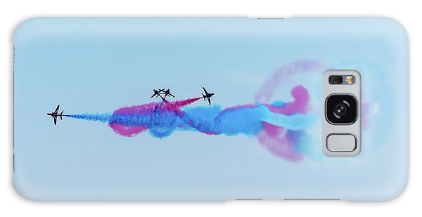 Galaxy Case featuring the photograph Red Arrows Break by Gary Eason