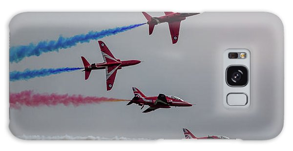 Galaxy Case featuring the photograph Red Arrows Break Off - Teesside Airshow 2016 by Scott Lyons