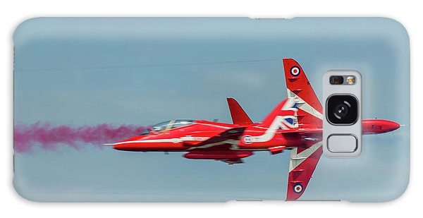 Galaxy Case featuring the photograph Red Arrows Crossover by Gary Eason