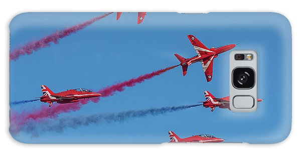 Galaxy Case featuring the photograph Red Arrows Enid Break by Gary Eason