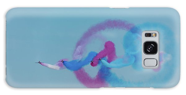 Galaxy Case featuring the photograph Red Arrows Gypo Swirls by Gary Eason