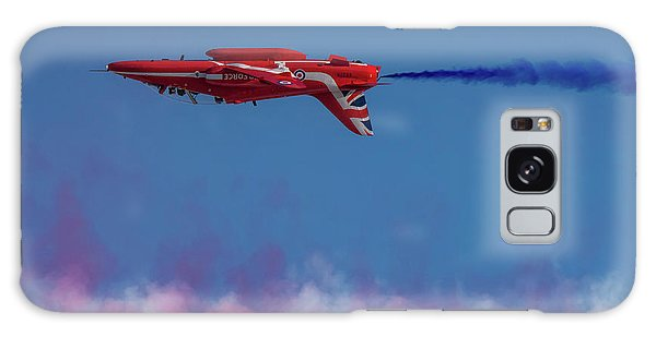Galaxy Case featuring the photograph Red Arrows Hawk Inverted  by Gary Eason