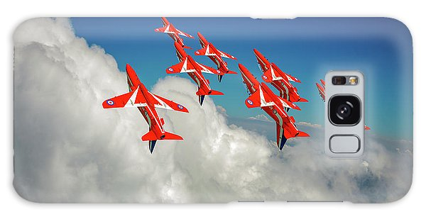 Galaxy Case featuring the photograph Red Arrows Sky High by Gary Eason