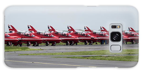 Galaxy Case featuring the photograph Red Arrows - Teesside Airshow 2016 Aircraft Check by Scott Lyons