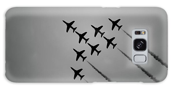 Galaxy Case featuring the photograph Red Arrows - Teesside Airshow 2016 Silhouette by Scott Lyons