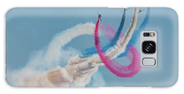 Galaxy Case featuring the photograph Red Arrows Twister by Gary Eason
