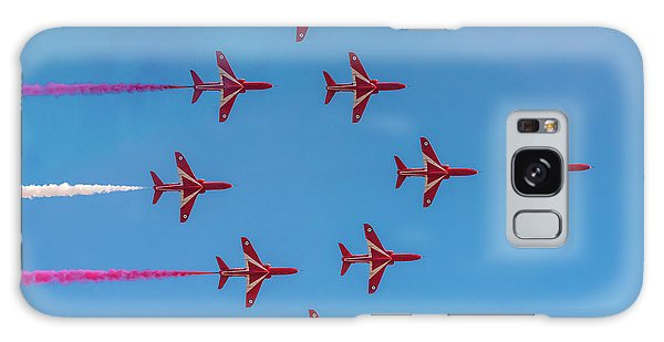 Galaxy Case featuring the photograph Red Arrows Typhoon Formation by Gary Eason