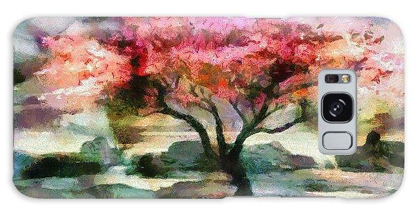 Red Autumn Tree Galaxy Case