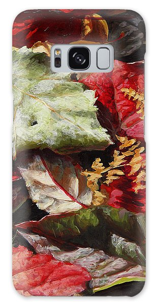 Red Autumn - Wasilla Leaves Galaxy Case
