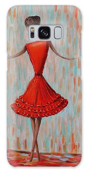Red Ballerina Galaxy Case
