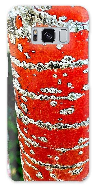 Red Bark Birch Galaxy Case