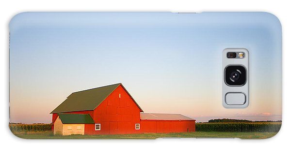 Red Barn And The Moon Galaxy Case