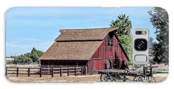 Red Barn And Wagon Galaxy Case