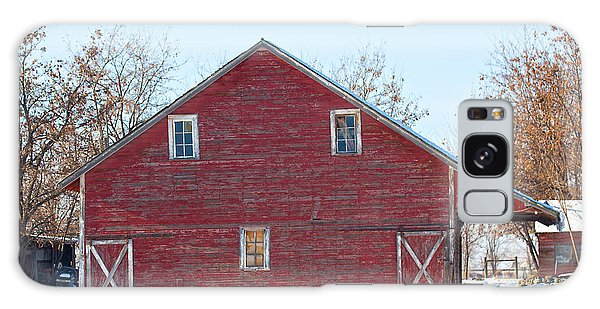 Galaxy Case featuring the photograph Red Barn by Dart Humeston
