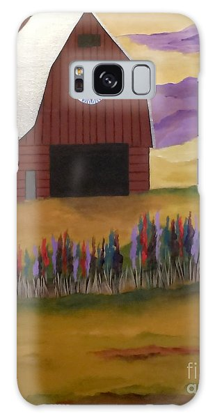 Red Barn Golden Landscape Galaxy Case