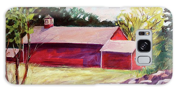 Galaxy Case featuring the painting Red Barn I by Priti Lathia