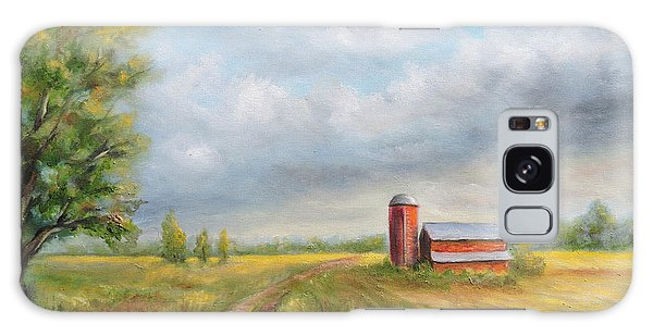 Red Barn In Spring Galaxy Case