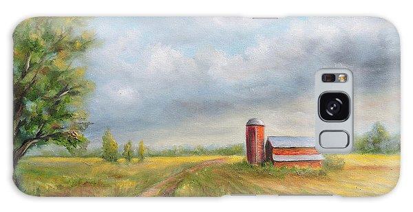 Red Barn In Spring Galaxy Case by  Luczay