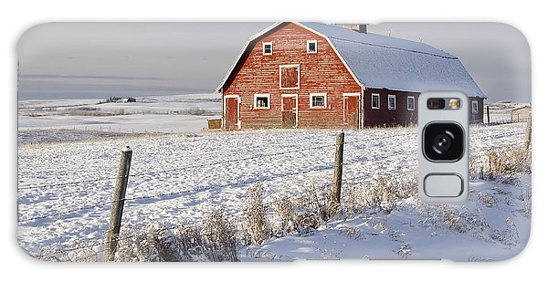 Red Barn In Winter Coat Galaxy Case